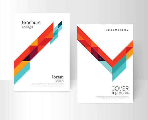 illustrations, cliparts, dessins animés et icônes de couverture de la brochure template - business card mock up