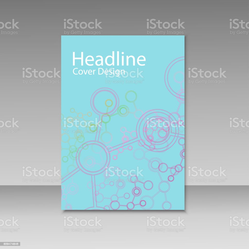 Brochure cover with abstract connect patterns vector art illustration