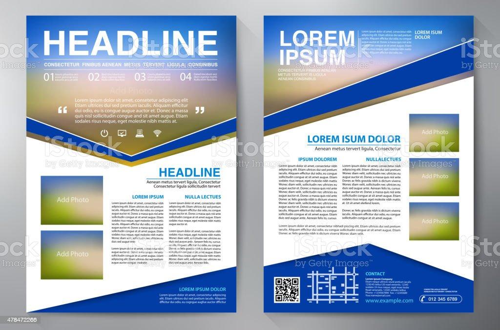 Brochure design a4 template. vector art illustration