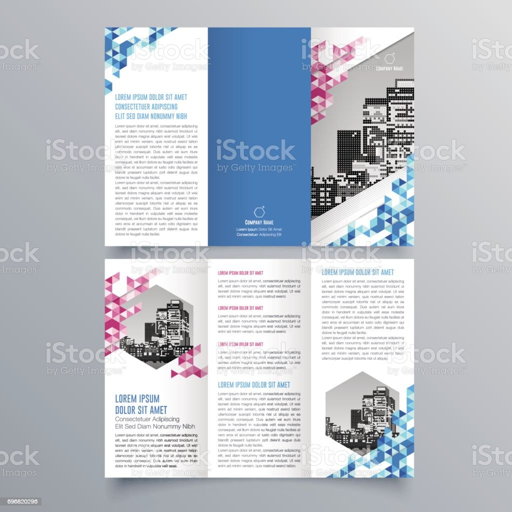 Plantilla Folleto Triple Creativo Diseño De Folleto Folleto De ...
