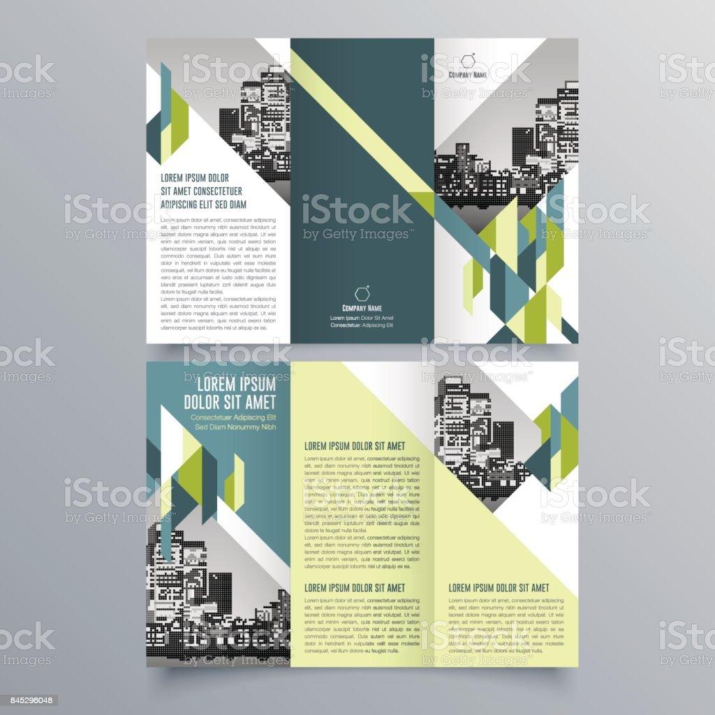 Ilustración de Plantilla Folleto Triple Creativo Diseño De Folleto ...