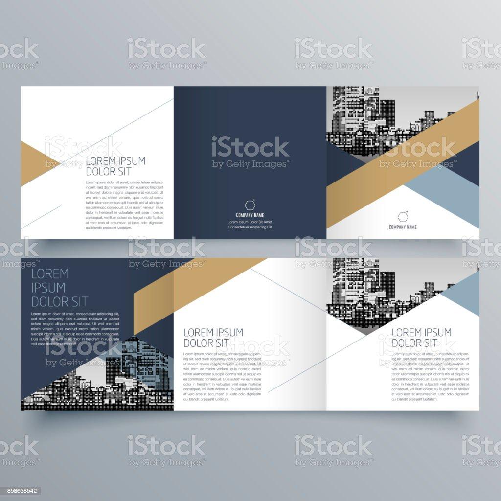 パンフレット デザイン、パンフレット作成用テンプレート、創造的な三つ折り、傾向のパンフレット ベクターアートイラスト