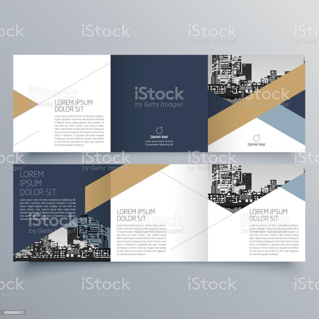 Brochure design, brochure template, creative tri-fold, trend brochure vector art illustration