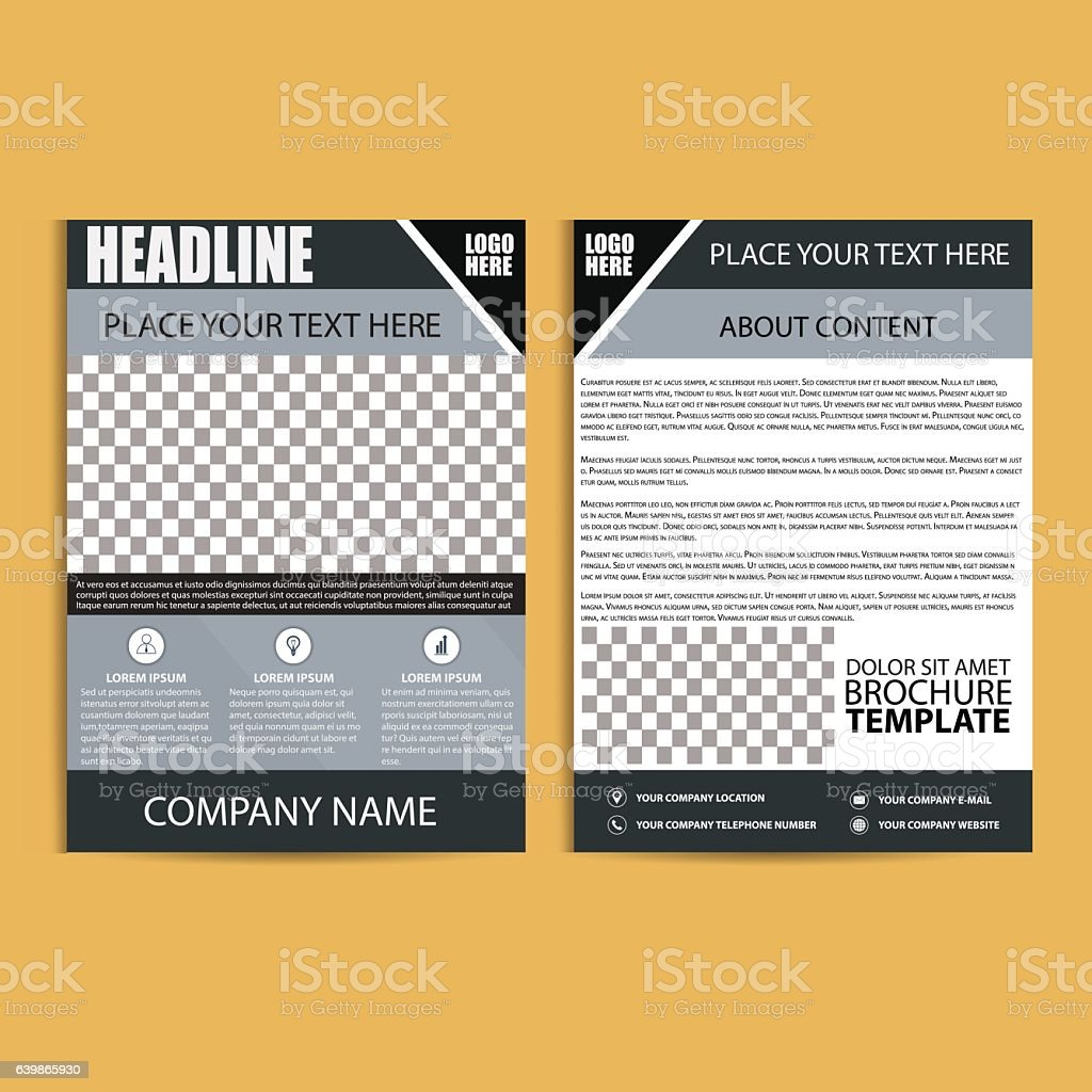 brochure design flyer template stock vector art more images of