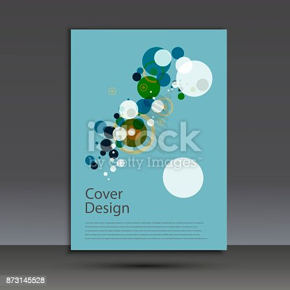909923870istockphoto Brochure design template cover. Vector abstract round 873145528