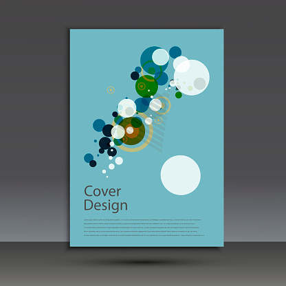 909923870 istock photo Brochure design template cover. Vector abstract round 873145528