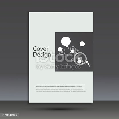 909923870istockphoto Brochure design template cover. Vector abstract round 873145636