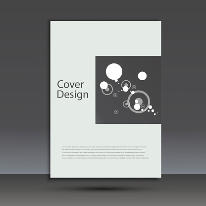909923870 istock photo Brochure design template cover. Vector abstract round 873145636