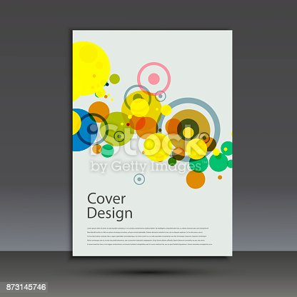 909923870istockphoto Brochure design template cover. Vector abstract round 873145746