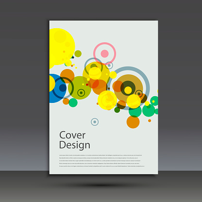 909923870 istock photo Brochure design template cover. Vector abstract round 873145746