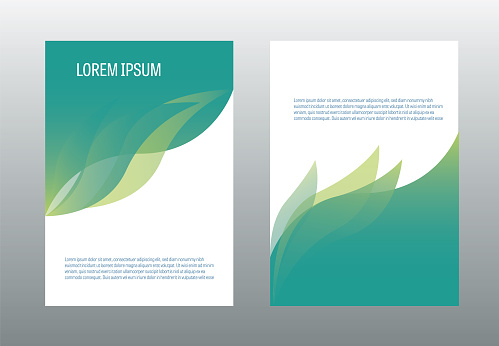 A4 brochure design template vector. Annual report page cover illustration. clipart