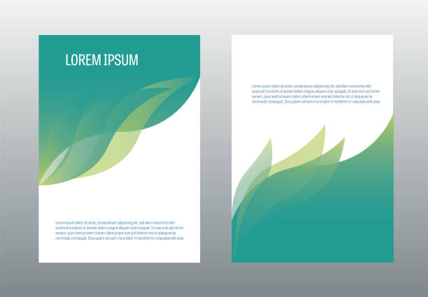 a4 brochure design template vector. annual report page cover illustration. - nature stock illustrations