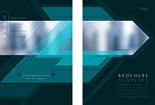 brochure design template model copy space
