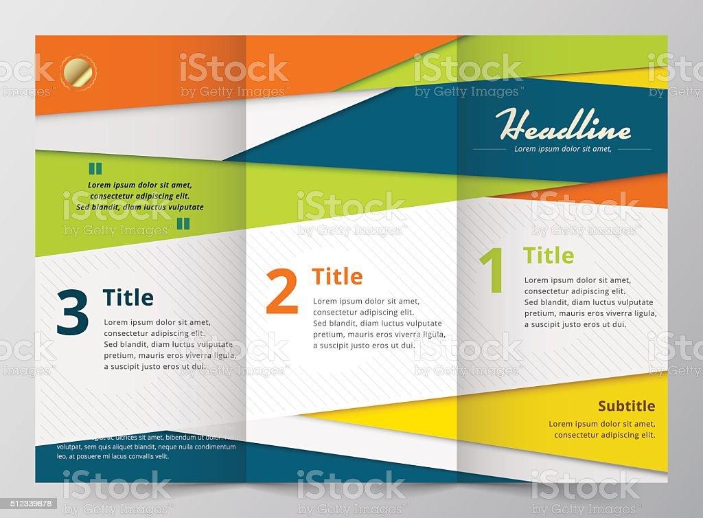 Brochure Design Template Vector Illustration Stock Vector Art More