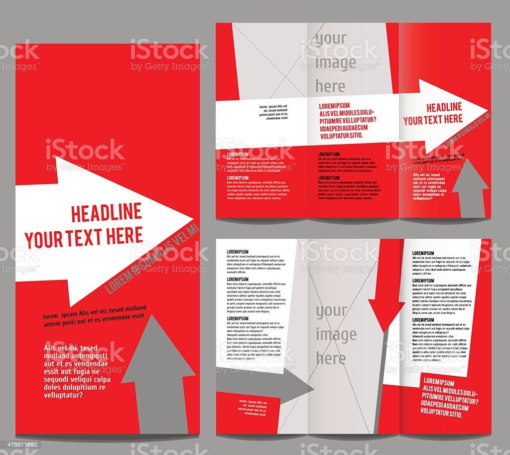 Dreifach Gefaltete Broschüre Design Vorlage Vektor Vektor ...