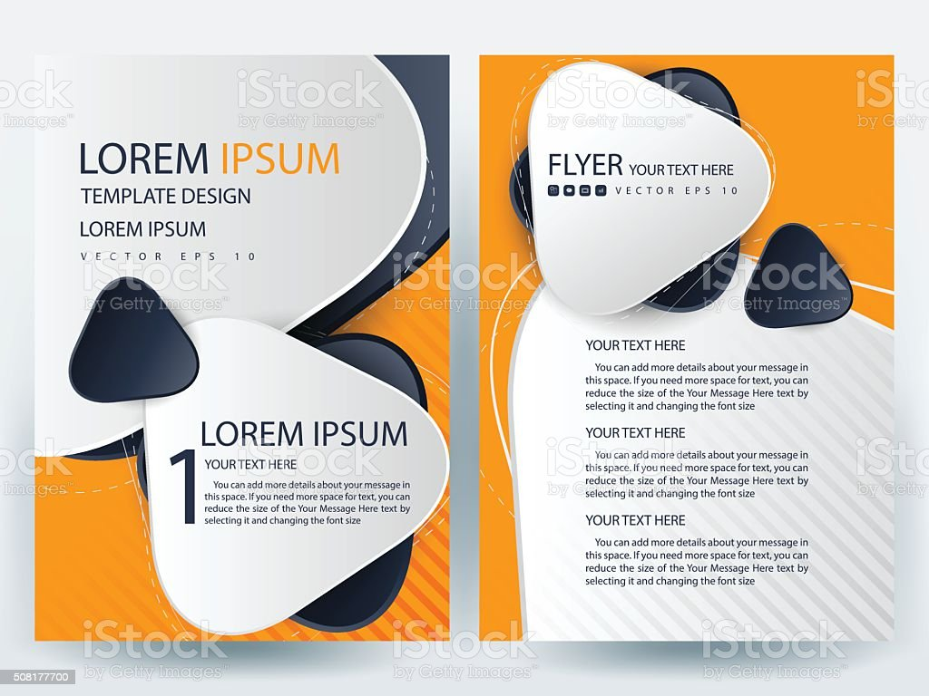 brochure design templates layout vector illustration stock