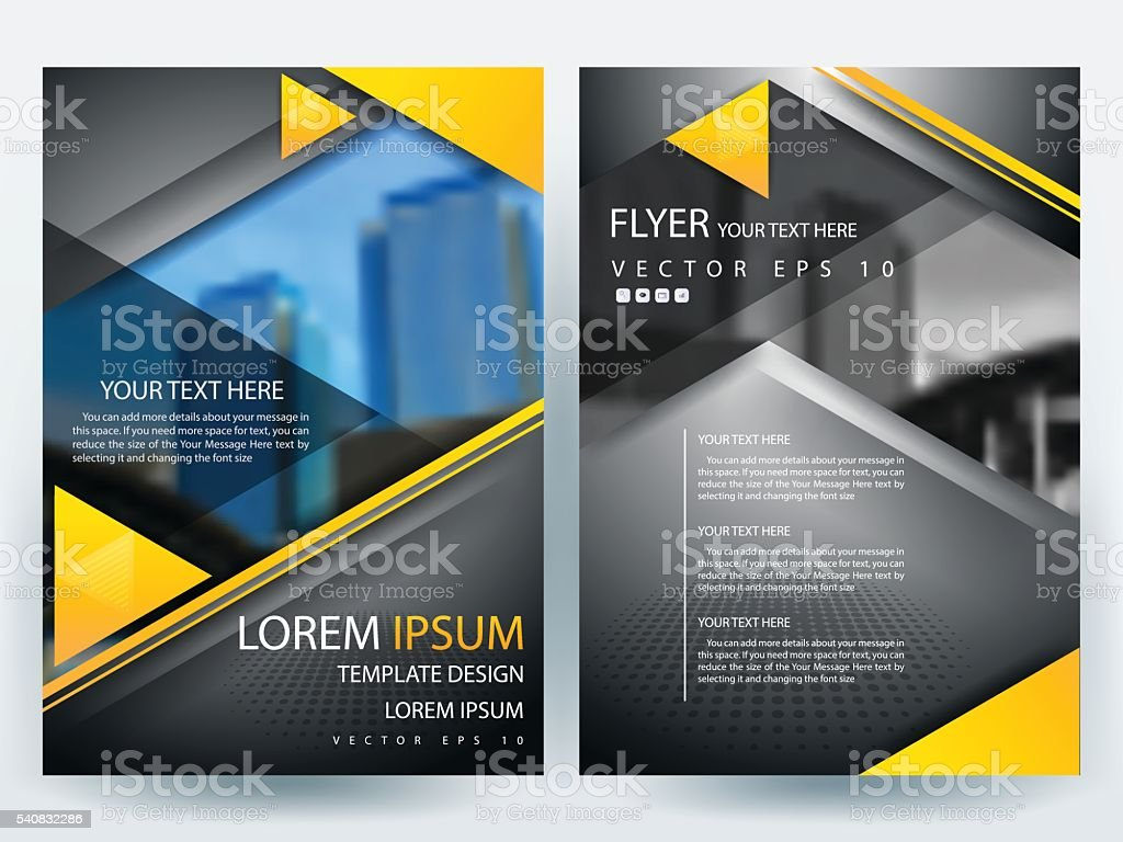Brochure Design Templates Layout Vector Illustration Stock Vector ...