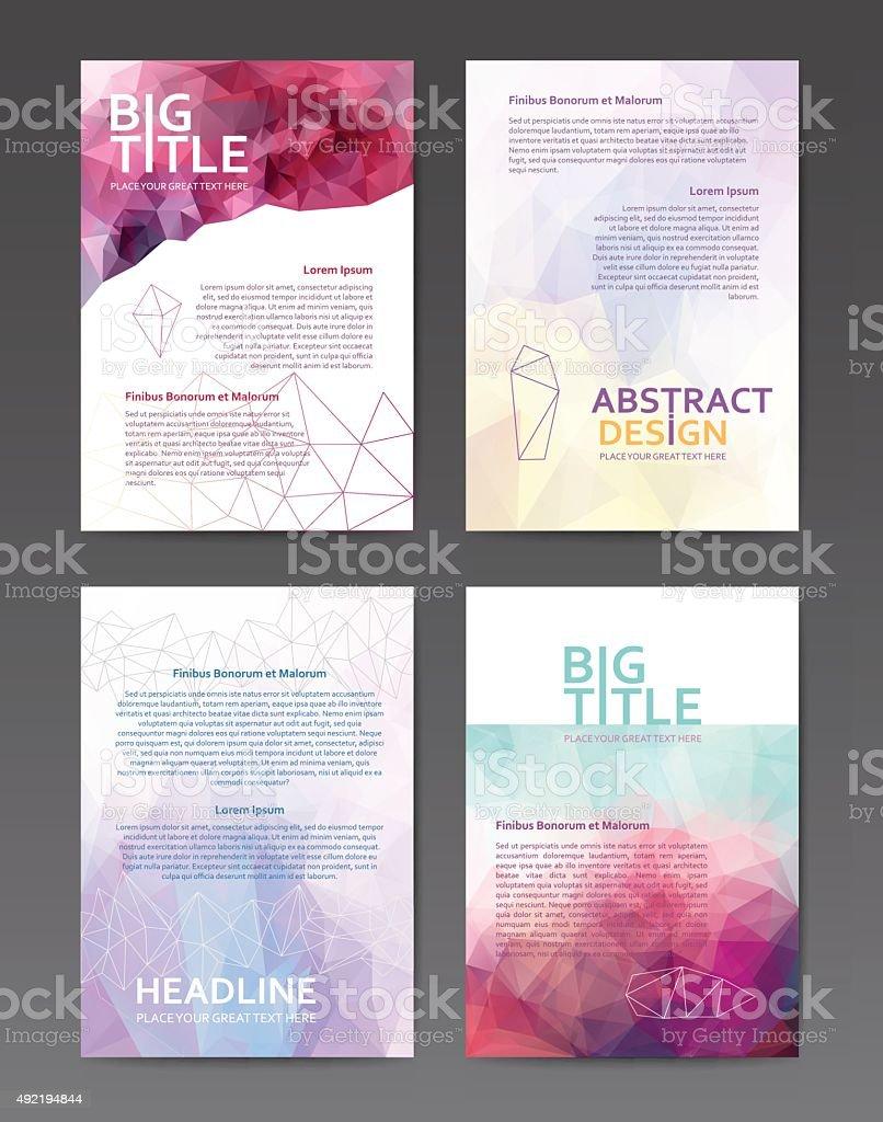 Brochure design templates vector art illustration