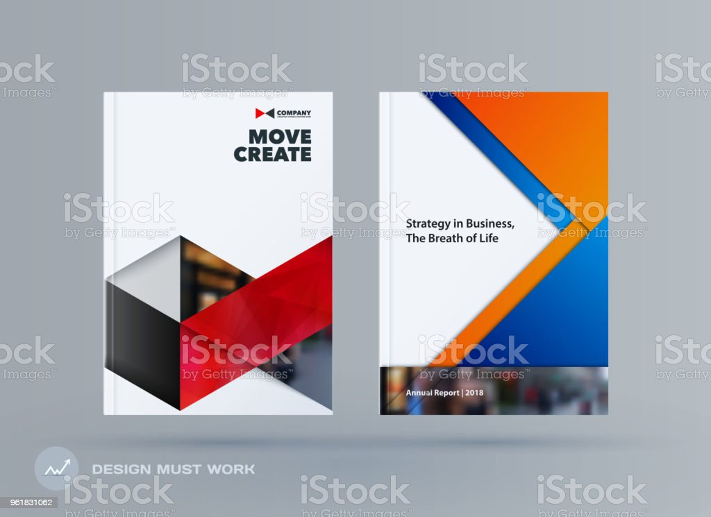 brochure design triangles template colourful modern abstract set