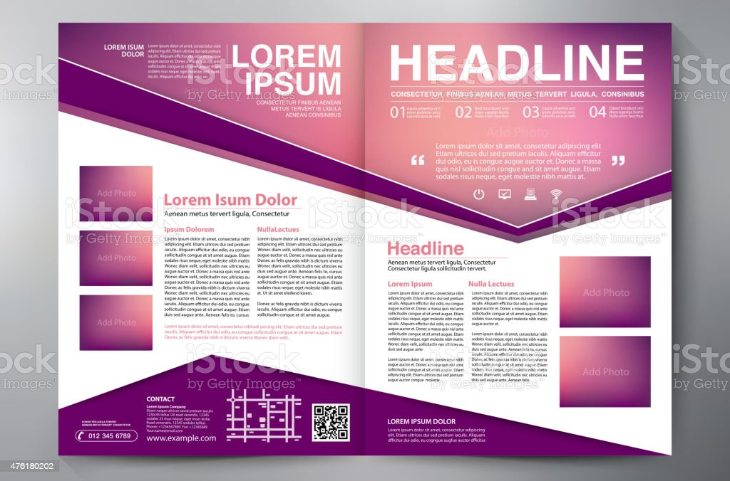 Brochure Design Two Pages A4 Template Stock Vector Art More Images