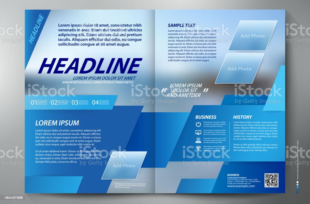 Brochure Design Two Pages A Vector Template Stock Vector Art - Two page brochure template