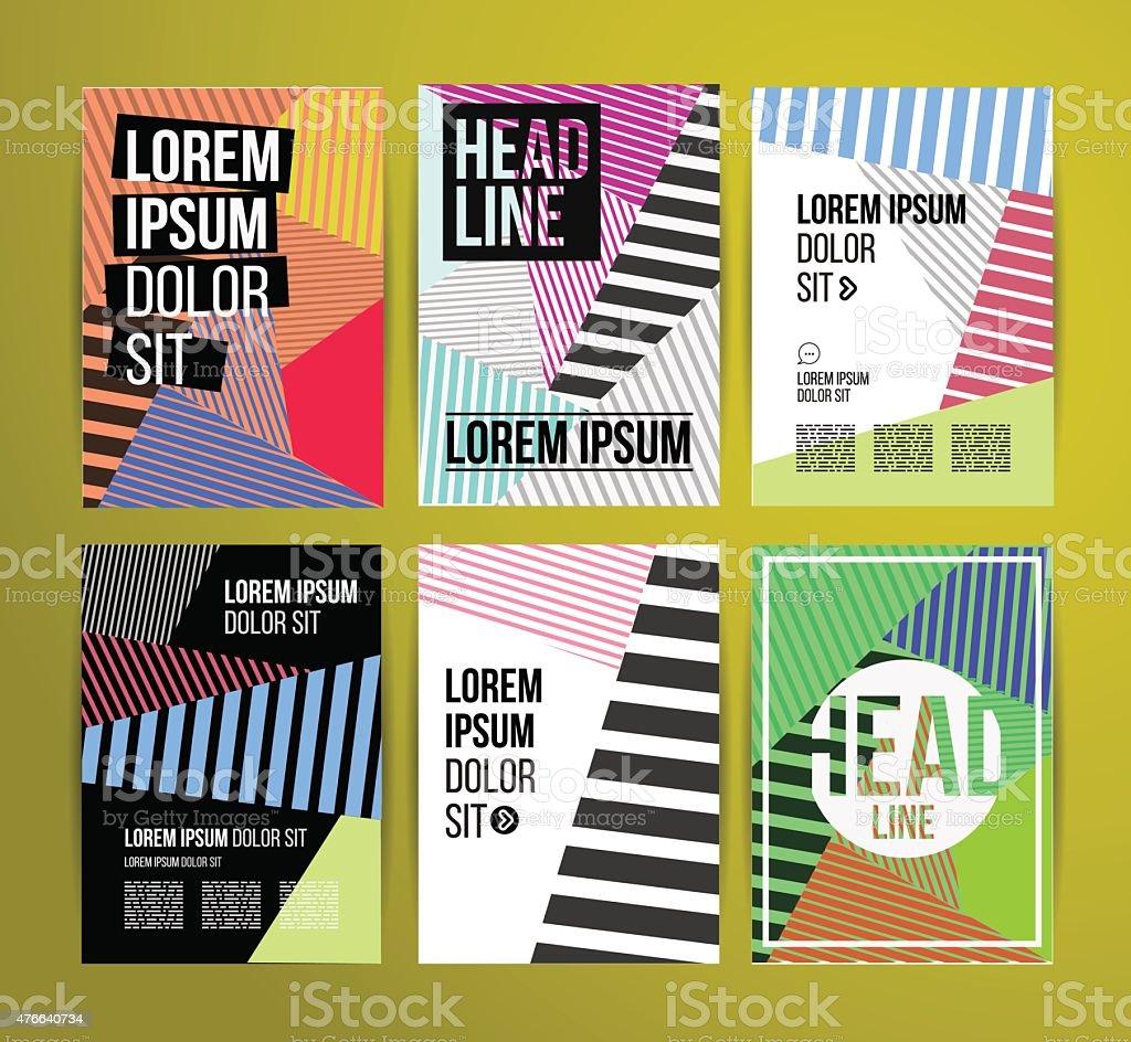 Brochure design vector art illustration