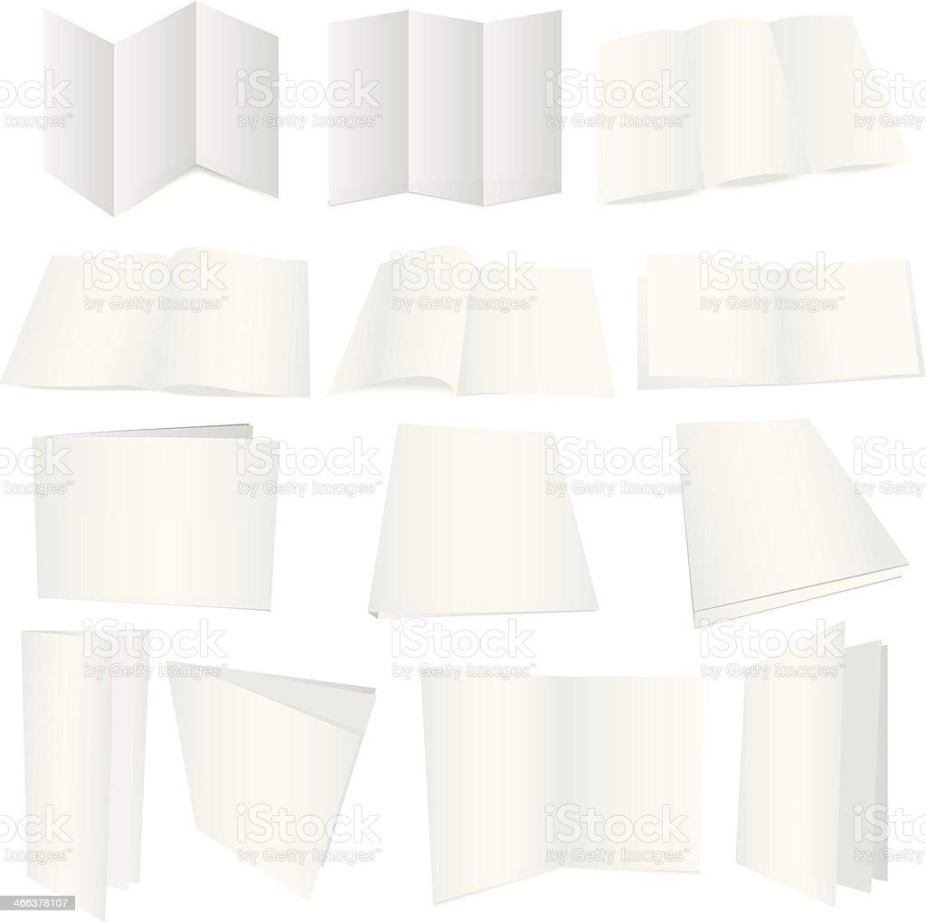 Brochure dummy vector art illustration