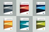 Brochure, flyer, annual report cover design. Various color templates.