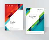 Brochure, flyer, annual report cover template