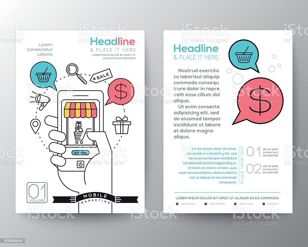 Brochure flyer design layout with digital marketing for Marketing brochure design