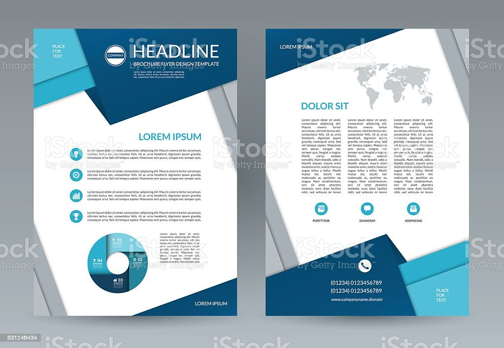 Brochure Flyer Design Template A4 Size Stock Vector Art More