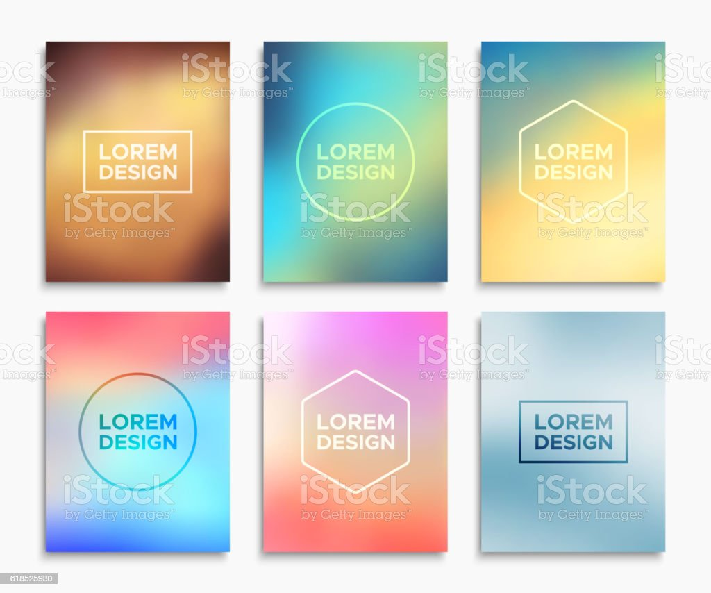 brochure flyer layouts in a4 size vector banners stock vector art