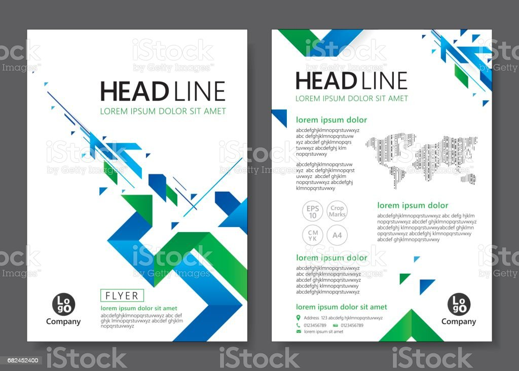 Brochure Flyer template design royalty-free brochure flyer template design stock vector art & more images of advertisement