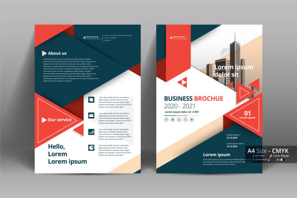 Brochure Flyer Template Layout Background Design. booklet, leaflet, corporate business annual report layout with red, teal geometric and white background template a4 size - Vector illustration. Brochure Flyer Template Layout Background Design. booklet, leaflet, corporate business annual report layout with red, teal geometric and white background template a4 size - Vector illustration. flyers templates stock illustrations