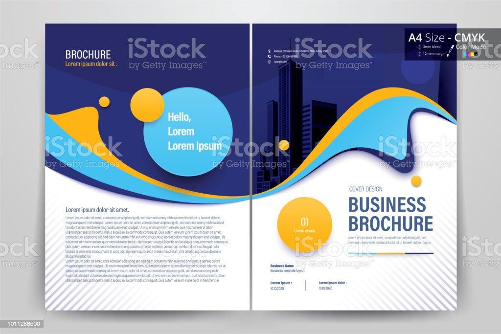 Brochure Flyer Template Layout Design De Fond Brochure Depliant