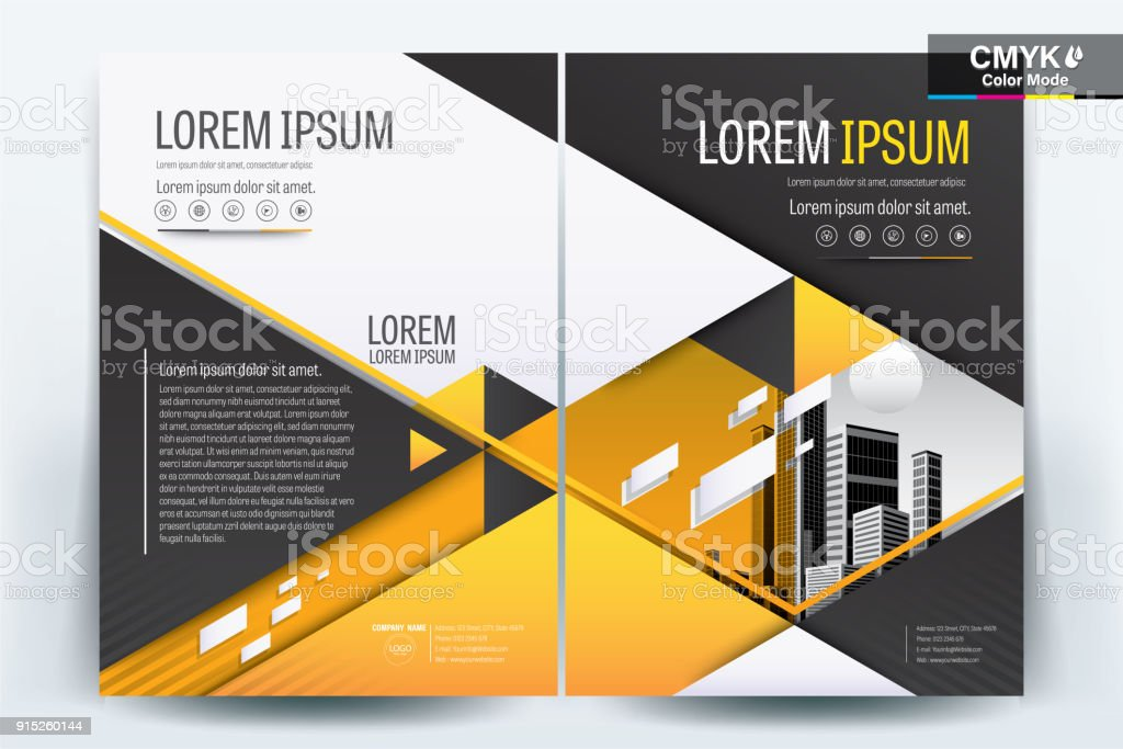 brochure flyer template layout background design booklet