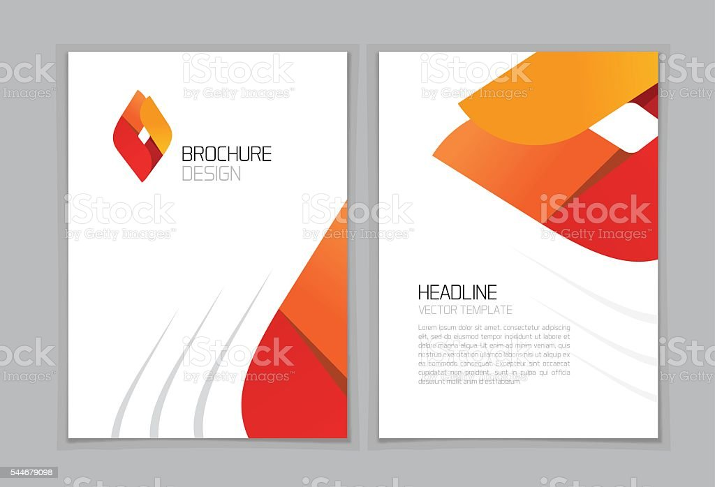 brochure flyer vector design a4 booklet layout template geometric