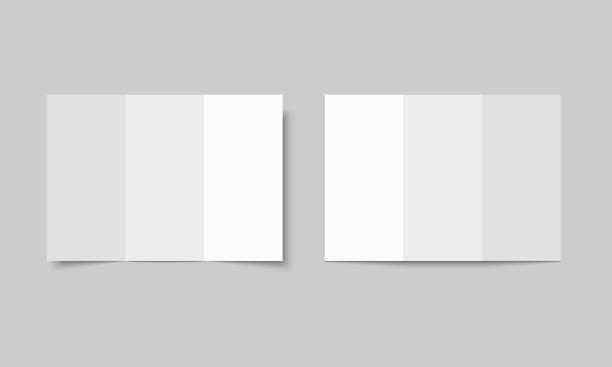 brochure folding 3 - składany stan stock illustrations