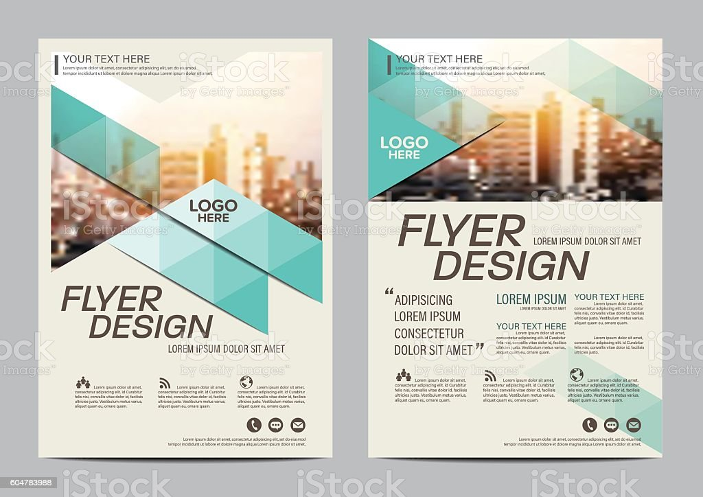 Brochure Layout Design Template Annual Report Flyer Illustration
