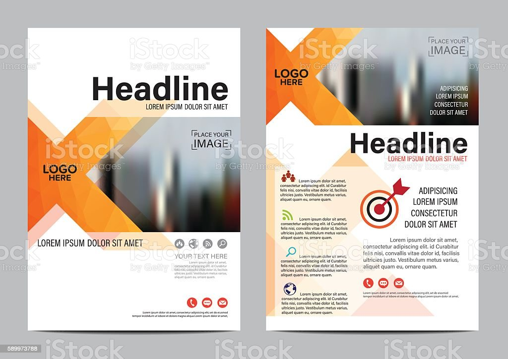 brochure layout design template annual report flyer leaflet vector