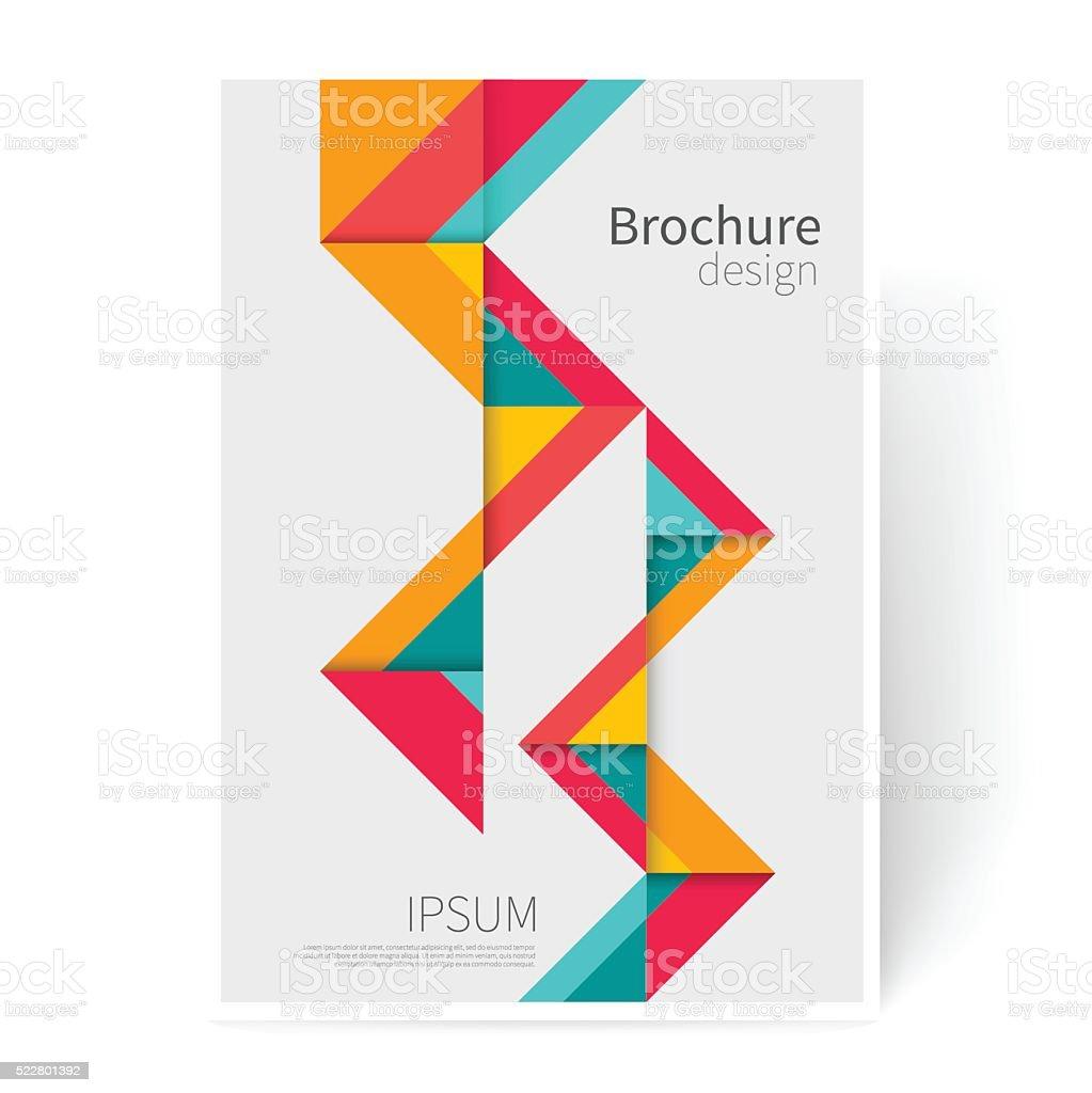 Folleto, folleto, panfleto, portada plantilla. - ilustración de arte vectorial