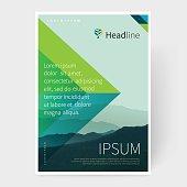 Brochure, leaflet, flyer, poster template