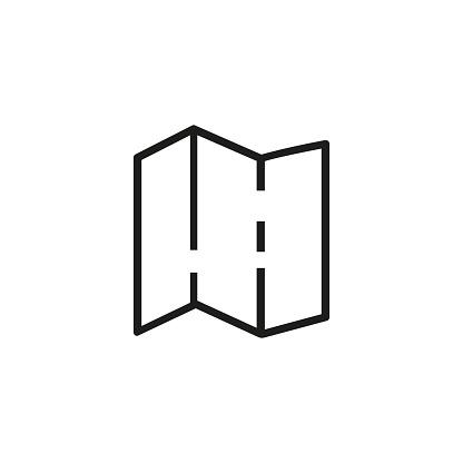 Brochure line icon