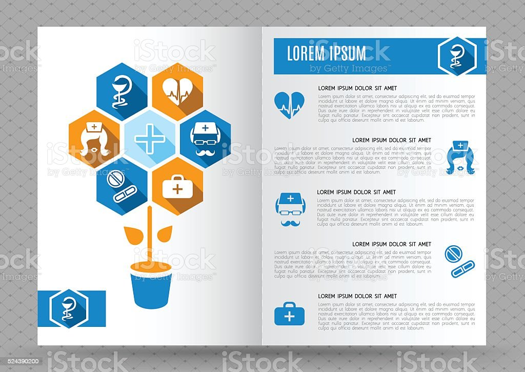Mod le de conception brochure m dicale cliparts for Louisiana id template