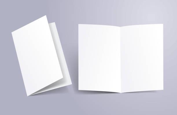 broszura otwarta i zamknięta - broszura stock illustrations