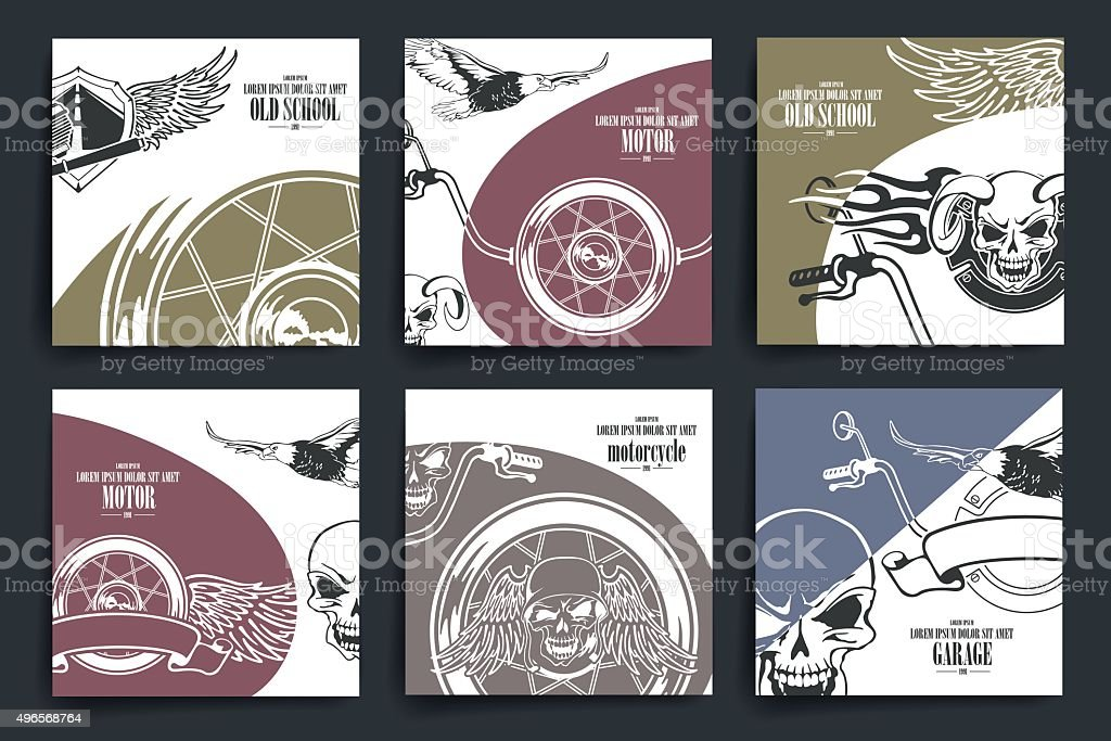 brochure or flyers design motorcycle and extreme sport theme icons royalty free brochure or