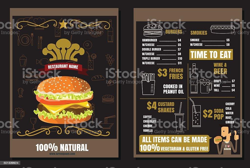 Brochure Menu Fast Food