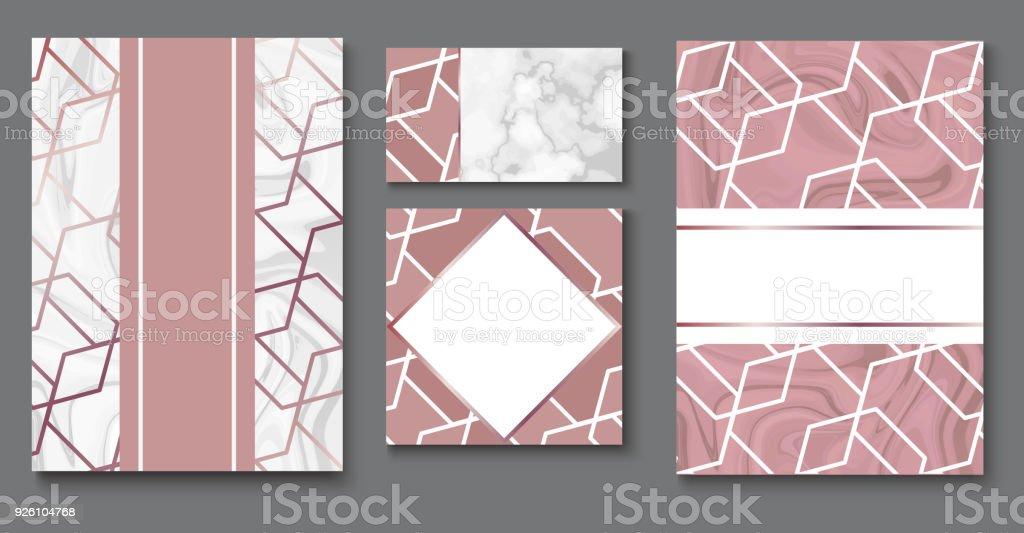 Broschüre Oder Vipverpackung Design Sets Luxuswrappapiervorlage Oder ...