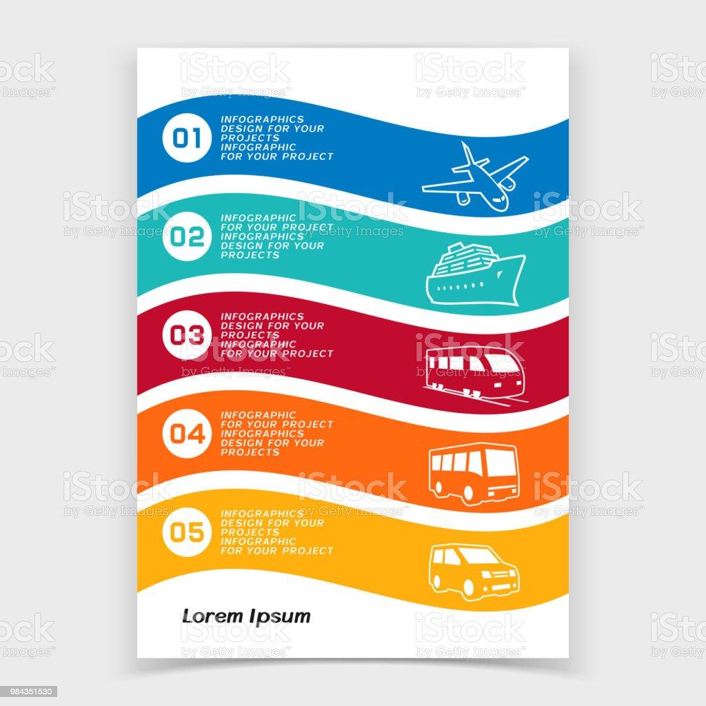 Brochure Or Web Banner Design With Travel Transportation