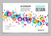 brochure science background design